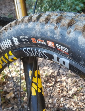Chunky, grippy tyres are always a welcome sight on an eMTB