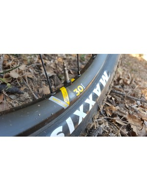 Appropriate rim widths give decent volume to the mixed-size tyres