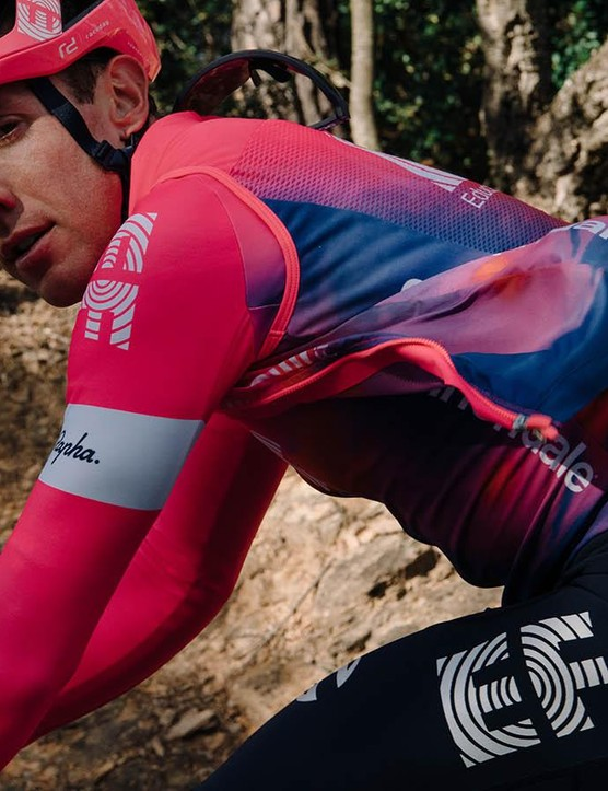 A number of matching accessories, including vests and arm warmers, are available