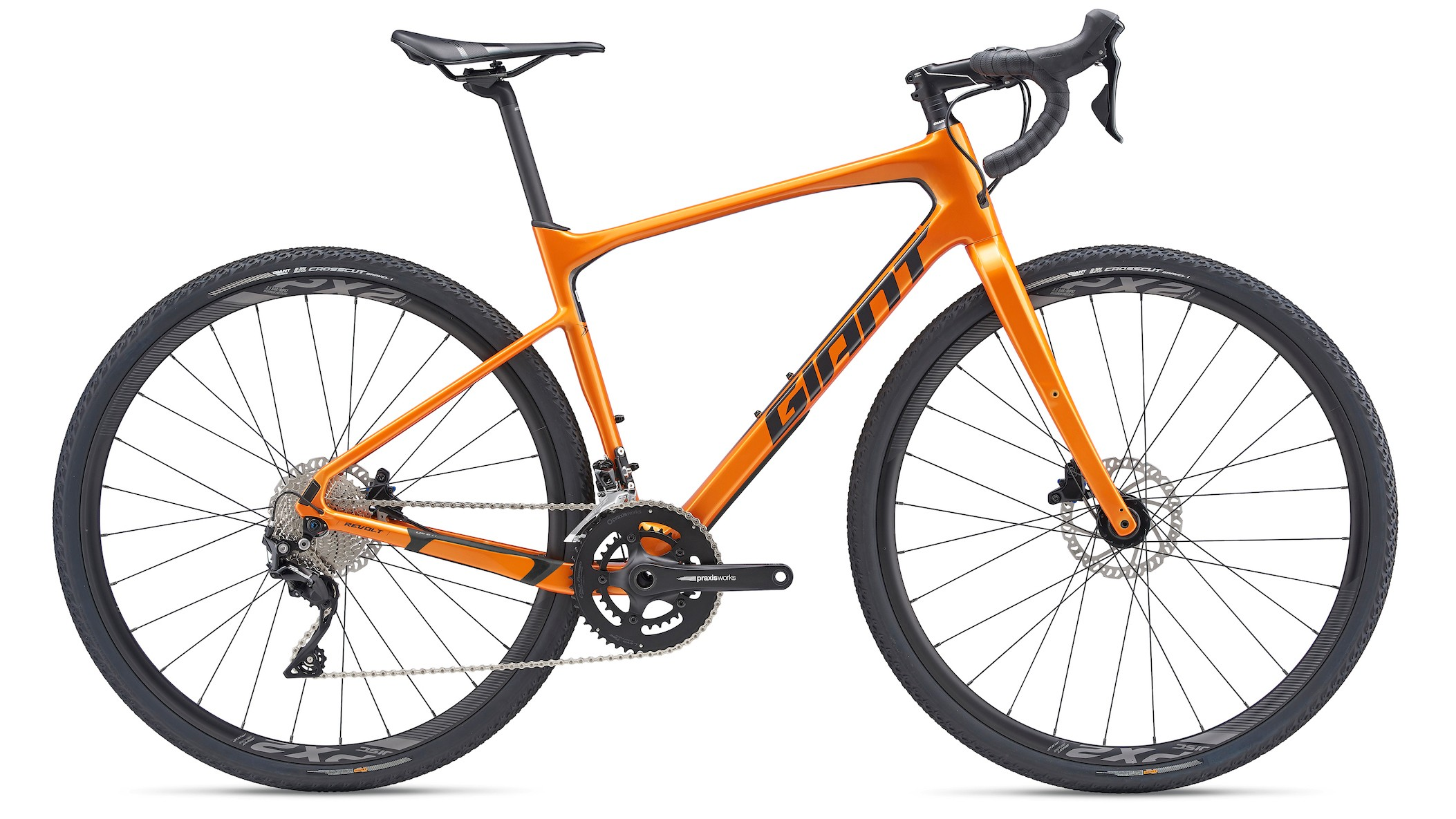 The Revolt Advanced 2 comes in two paintjobs and is equipped with 105 and Giant's own Conduct hydraulic brakes