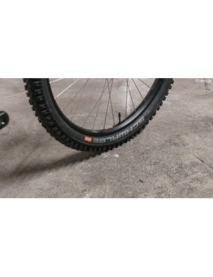 The Schwalbe tyres are an impressive spec choice on a bike of this price