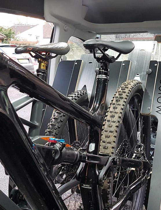 BikeStow's rack secures up to either two or four bikes