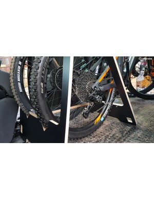 The rack folds up pretty flat, opens up, and then can support your bike