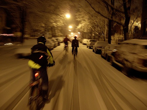 Chicago riders brave all conditions