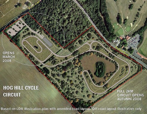 An illustrative plan of the Hog Hill Cycle Circuit