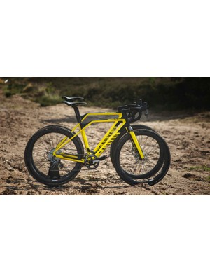 The smallest frame does have a small degree of top tube slope, but should provide similar handling