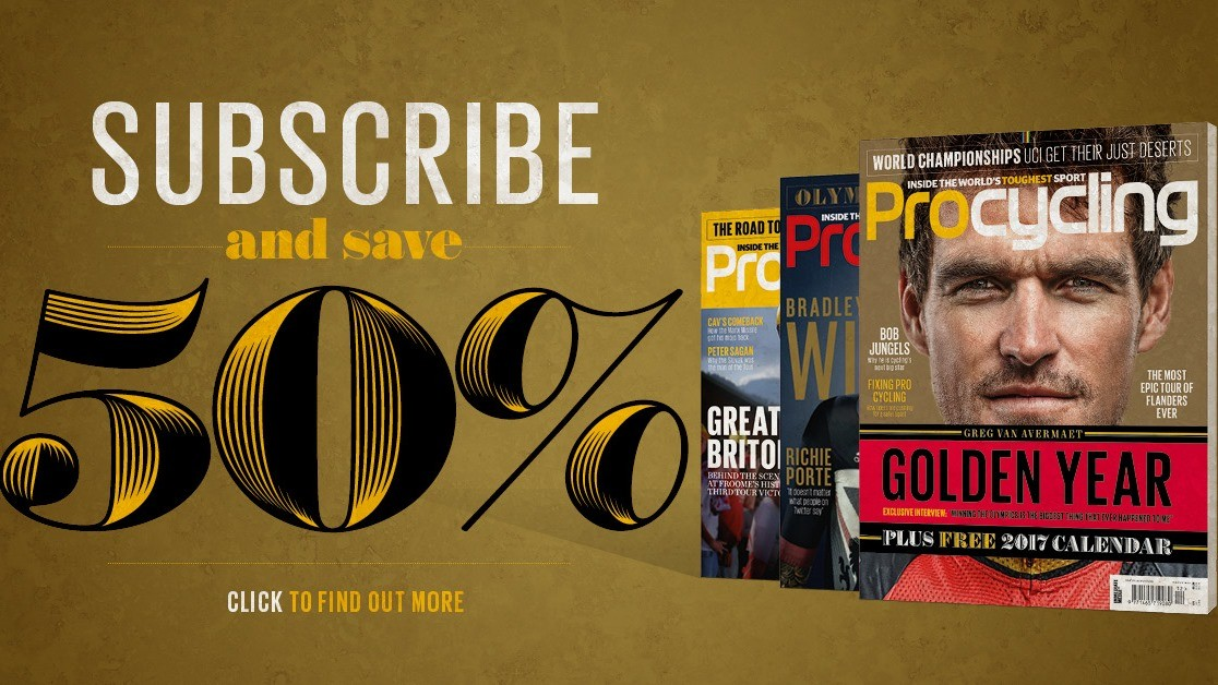 Save 50% when you subscribe to Procycling