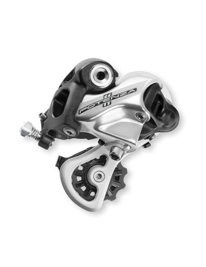 Contrasting black and silver parts on the rear mech