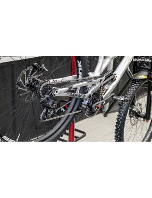 Commencal's new 29er was getting a lot of attention in the pits
