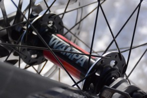 Black and red, the Wampa hubs look a little bit like a certain Swiss brand