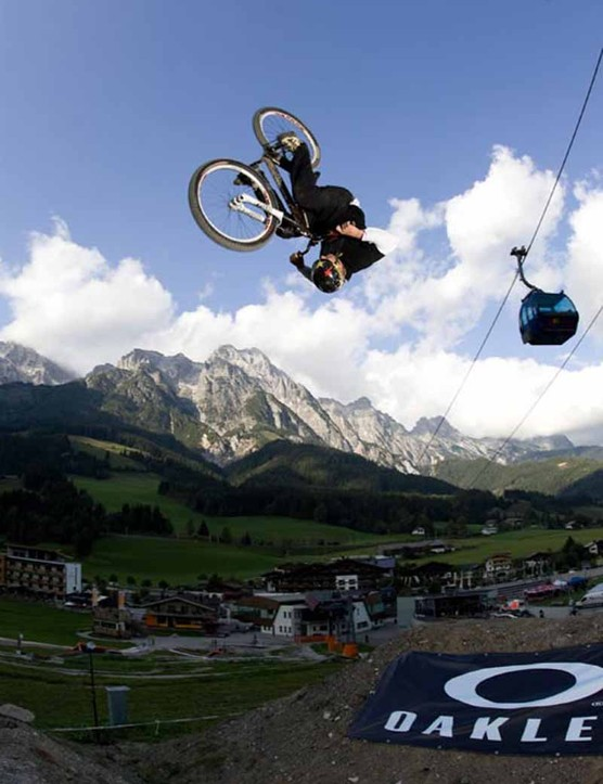 Leogang winner, Trond Hansen in action.
