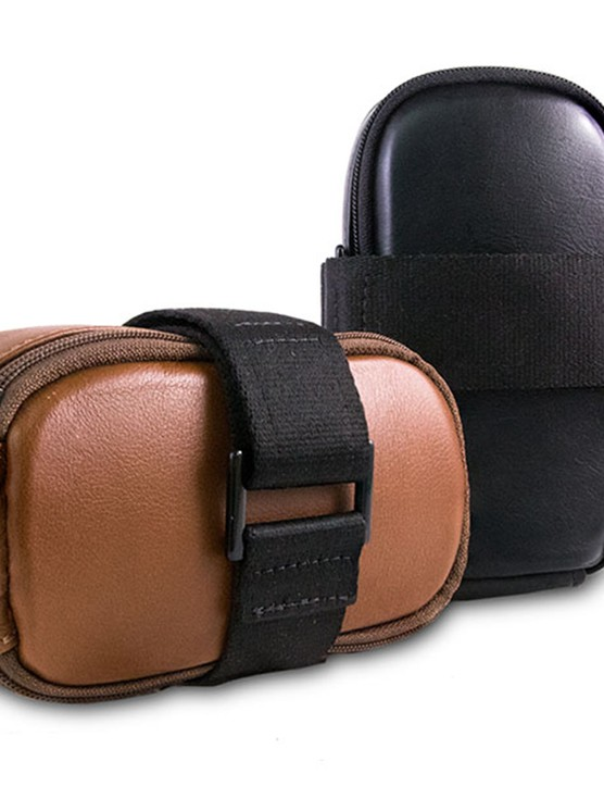The bag is available in either black or tan