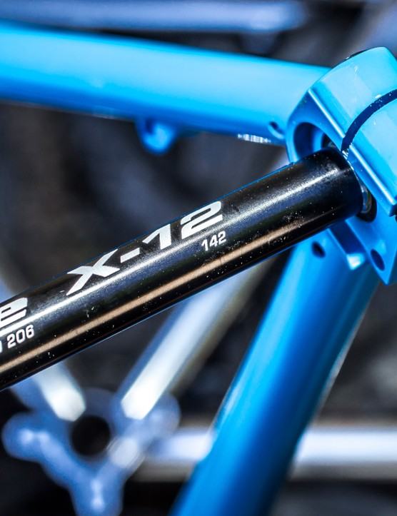 Syntace's X12 axle should keep the back end nice and stiff