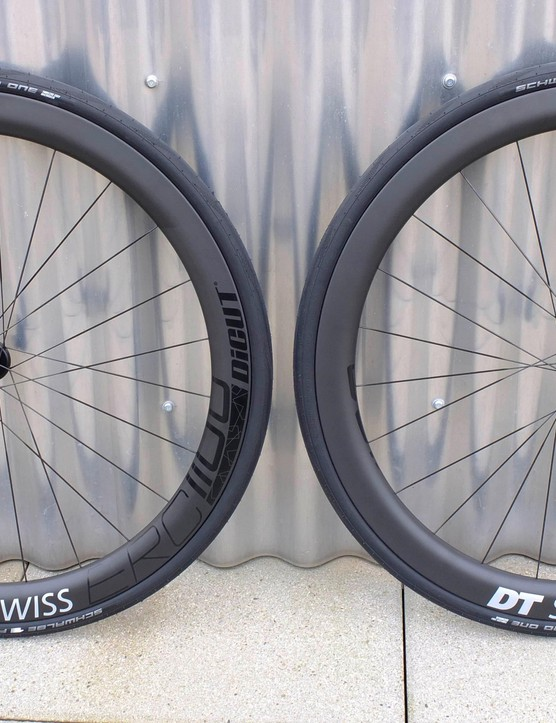 The new DT Swiss ERC1100 Dicut wheelset with aerodynamics developed by SwissSide