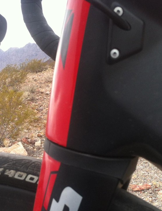 A massive lower head tube / fork junction dictates world class handling