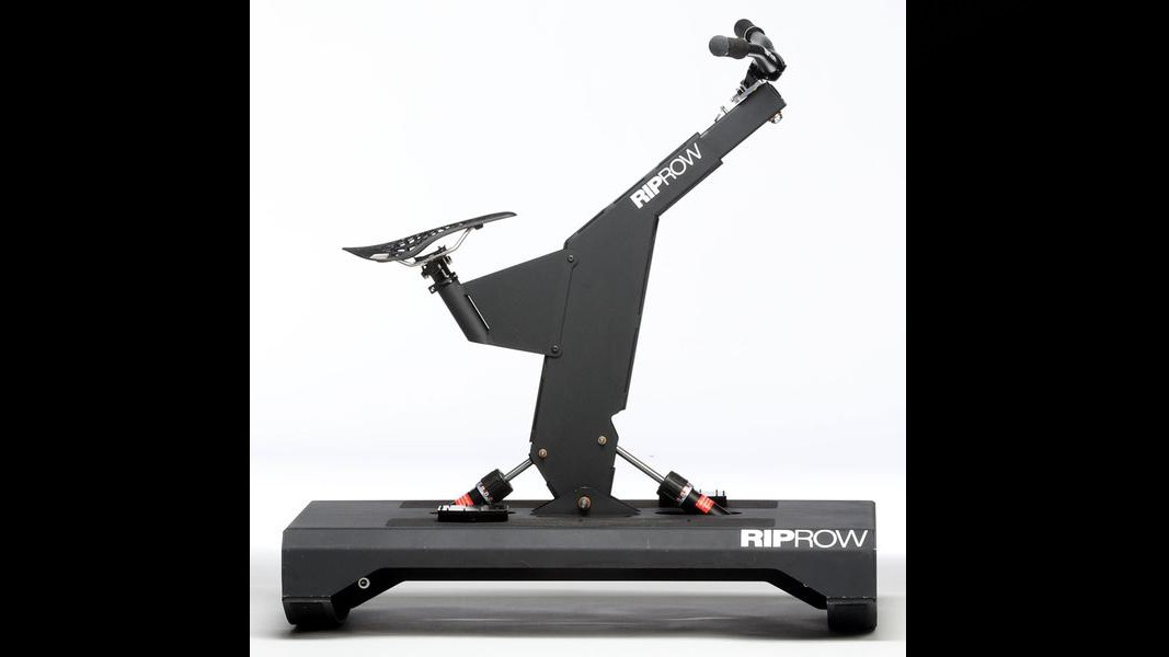 The RipRow can be pushed and pulled for strength exercises, and the base is unstable for core strengthening and balance