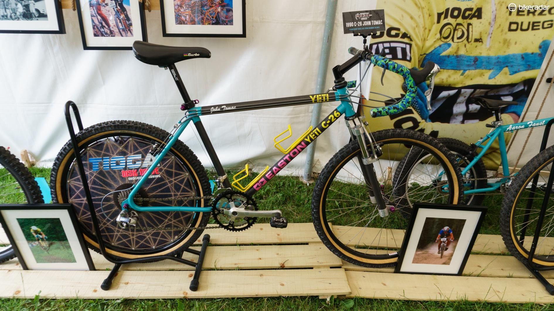 John Tomac's Yeti C-26 complete with Tioga Disc Drive rear wheel and drop handlebar