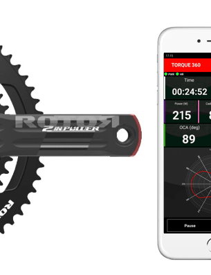 The 2INpower power meter also pairs with an app