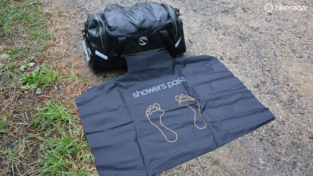 Not for triathletes only, the 36x24in changing mat is great for grass, gravel or hot pavement parking lots