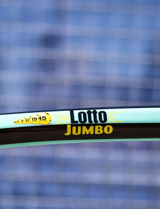 LottoNL-Jumbo's bikes feature a lot of branding