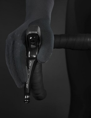 Shimano's latest gloves are said to be extremely stretchy and see an extra long cuff