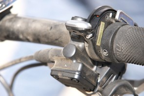 Fox Racing Shox' new production remote lockout lever was found on the bike of Marie-Helene Premont.