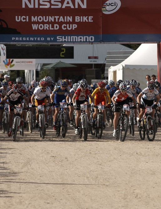 The women's start was less chaotic than previous races