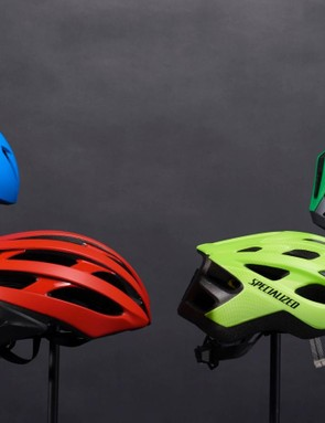 The four 5-star helmets (left to right): Bontrager Ballista MIPS, Garneau Raid MIPS, Bell Stratus MIPS, Specialized Chamonix MIPS