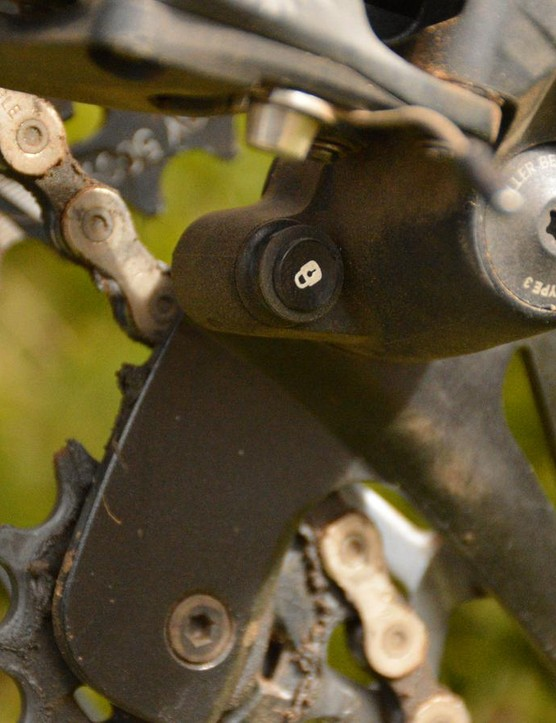 SRAM's Cage Lock is a welcome and useful feature found on all its clutch rear derailleurs