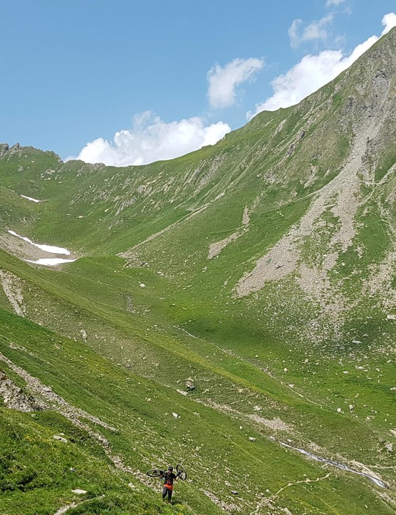 Big descents mean big climbs — plenty of hike-a-bike last month