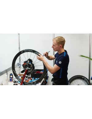 Glueing tubs forms a large part of the pro-tour mechanic's day-to-day life