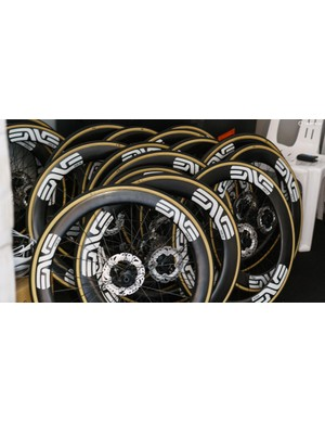 What a rather expensive stack of wheels