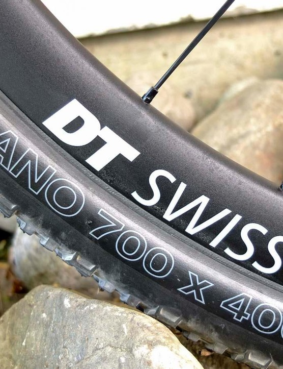 DT Swiss AMP 1600 Spline wheels and WTB Nano tyres are a rugged combination