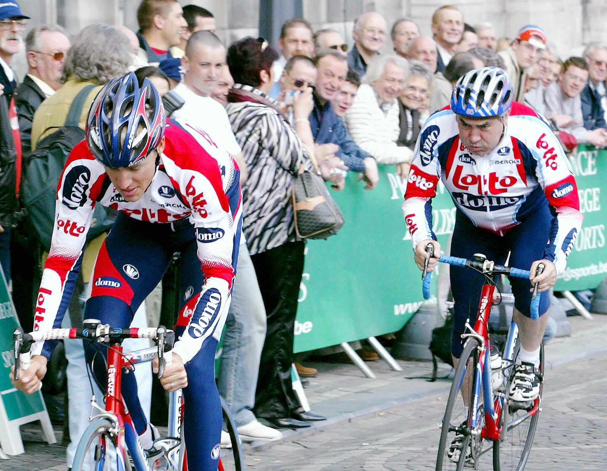 After several years on the Nelson Plan, Eddy Merckx was able to shield son Axel from a tailwind.