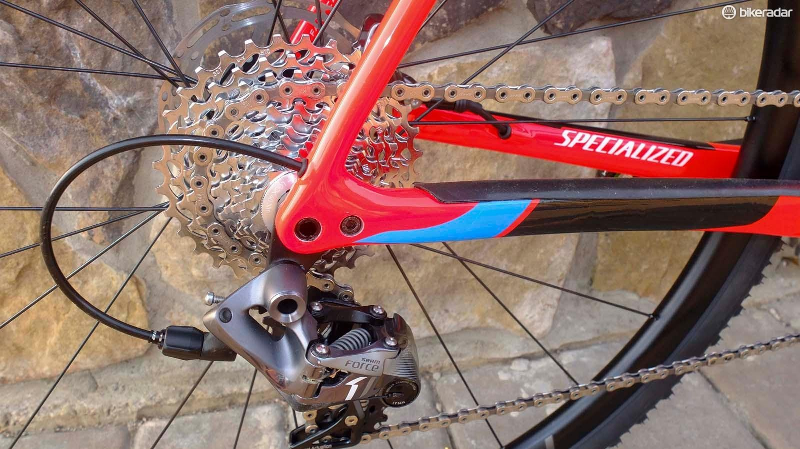 Specialized has reverted to a 142mm rear thru-axle for simple compatibility