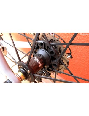 An oversized drive side hub flange, and the adjustable bearing preload lock ring