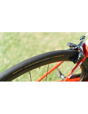 Continental's Competition Pro Ltd tubular has been updated for 2019 with the central section of the tyre now smooth