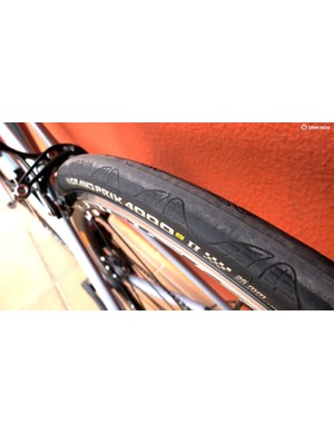 The wider rim is intended to improve aerodynamics across rim and tyre when fitted with 25mm tyres (as here) or 28mm rubber