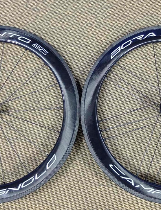 The new 60mm deep Bora WTO 2-Way-Fit tubeless wheelset is the result of Campy's most extensive wind tunnel program