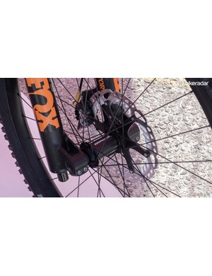The bike was built around these unnamed Bontrager 29er hoops