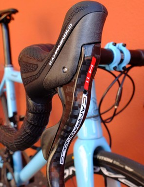 H11 is the term given to the carbon hydraulic levers that cover every disc groupset above Potenza