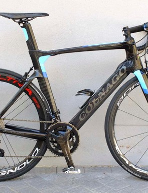 Our Record 12-speed rim brake test bike was Colnago's Concept