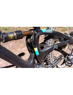 Yeti's renowned Switch Infinity rear suspension makes an appearance