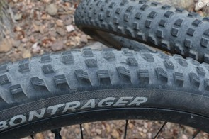 The tread shows some wear, but is holding up relatively well