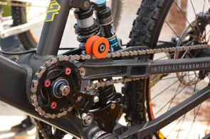 The non-drive side or the drive side? The chain that pulls the rear wheel is on the left side of the bike