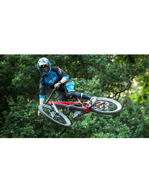 Pivot team rider Bernard Kerr seeing what the new rig is capable of