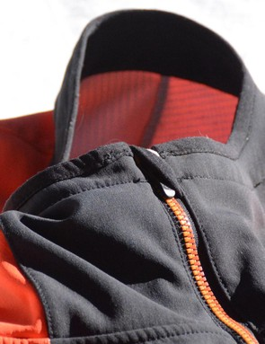When fully zipped up, a zipper garage keeps the zipper away from your skin