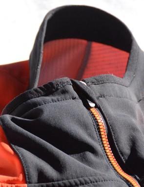 When fully zipped up, a zipper garage keeps the zipper away from your skin