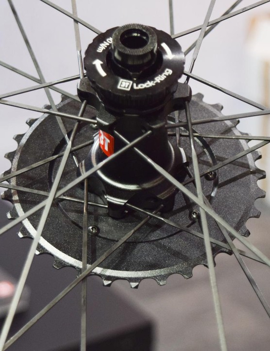 Shown here mounted on one of 3T's own wheels, the new cassettes use SRAM's XD-R driver