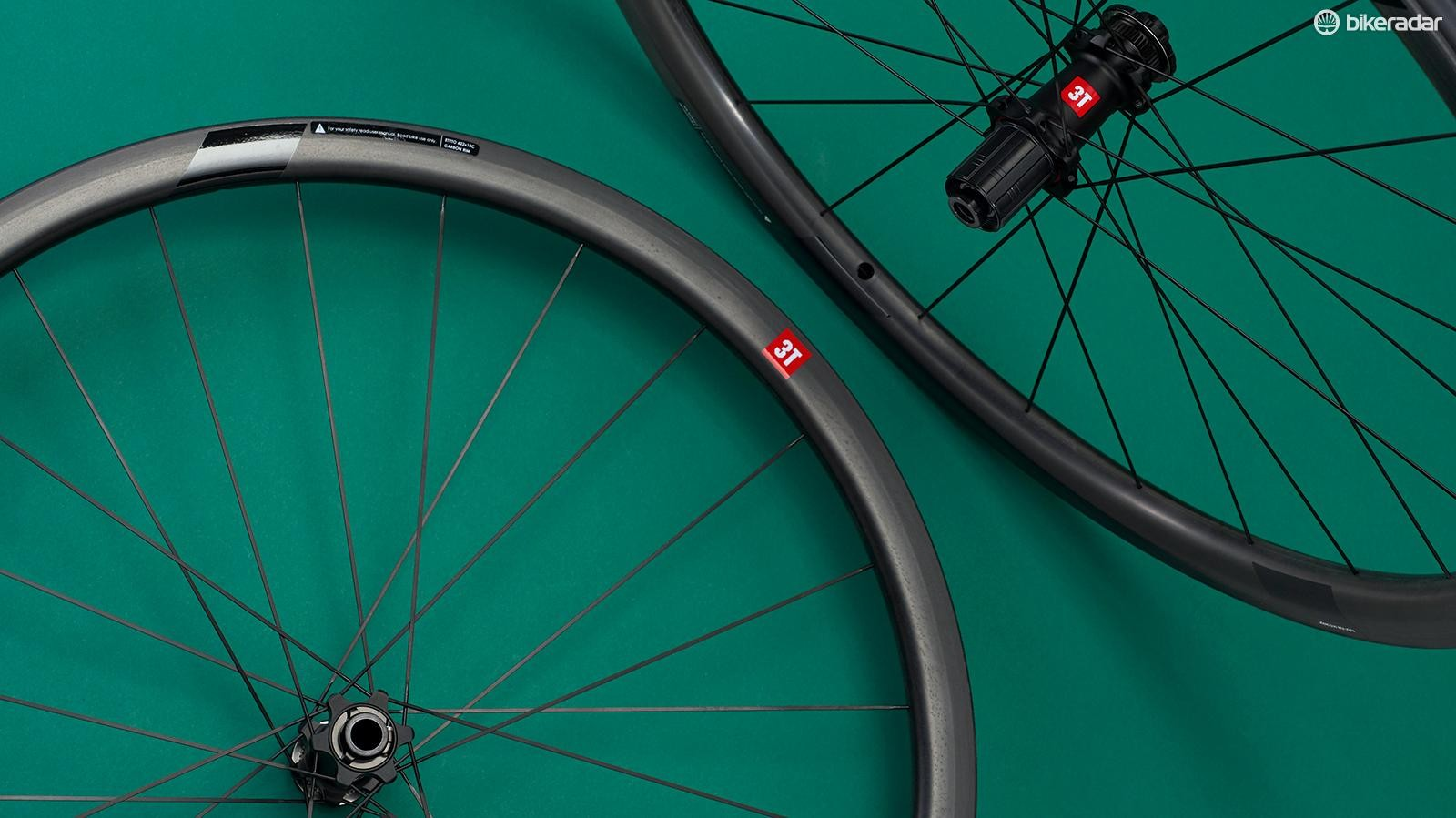 3T's Discus C35 Team Stealth wheelset is aptly named –it makes its case quietly but very effectively out on the road
